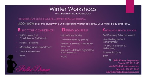Winter Lifeskills Workshops Bella Donna Krugersdorp